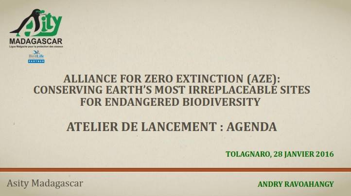 Alliance for Zero Extinction (AZE)